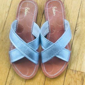 Boden women's silver sandals!